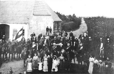 Foto von Ringreiter in Frörup, Jägerkrug ca. 1920