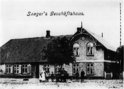 Foto von Saager's Geschäftshaus um 1900