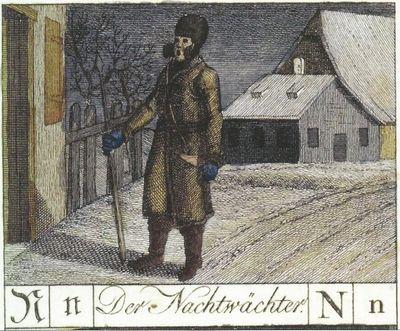 Nachtwächter Kupferstich von 1799