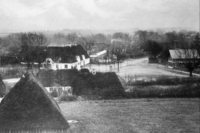 Marktplatz von Oeversee um 1900